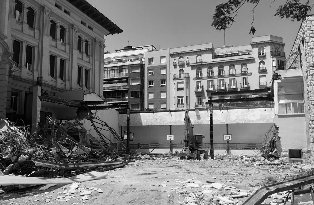 Pabellón Colegio Jesús María- demolición