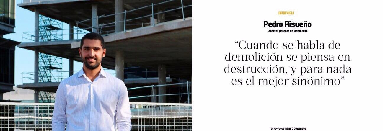 Pedro Risueño, gerente de Demoresa, entrevistado por Cambio 16